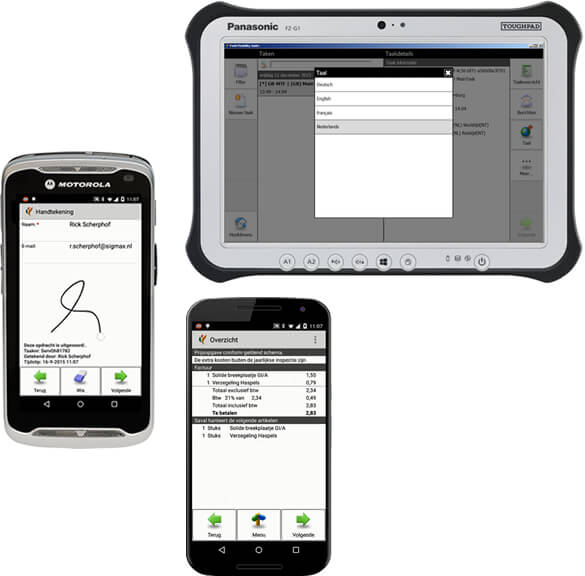 Sigmax Field Mobility Suite devices